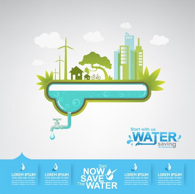 Save the water concept l'eau, c'est la vie