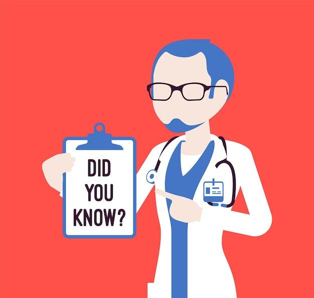Saviez-vous que l'annonce d'un médecin de sexe masculin