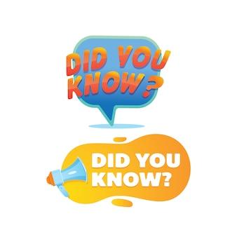 Le saviez-vous?