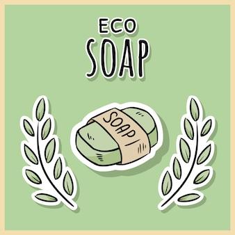 Savon écologique en matériau naturel.