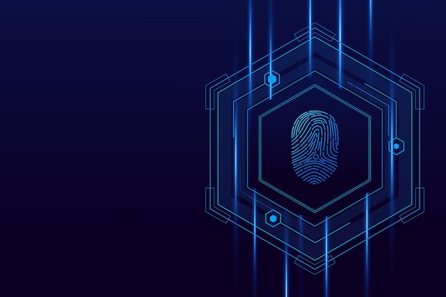 Scan des empreintes digitales, cybersécurité et contrôle des mots de passe par empreintes digitales, accès avec identification biométrique