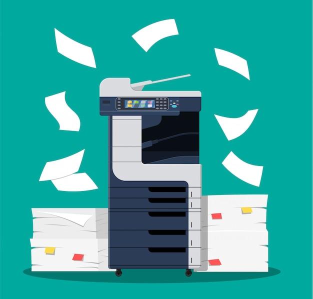 Scanner d'imprimante multifonction de bureau.