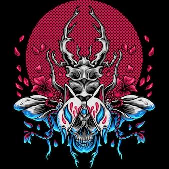Le scarabée kitsune japon