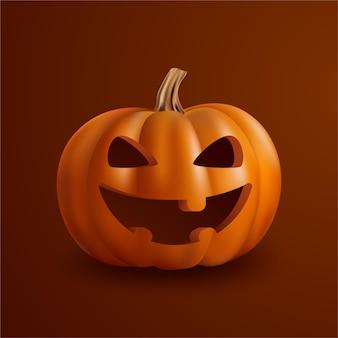 Scary citrouille halloween lanterne vecteur réaliste