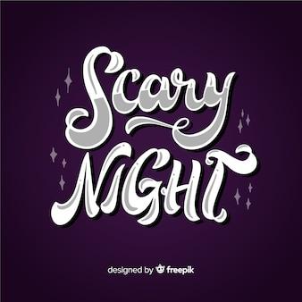 Scary night lettrage de fond