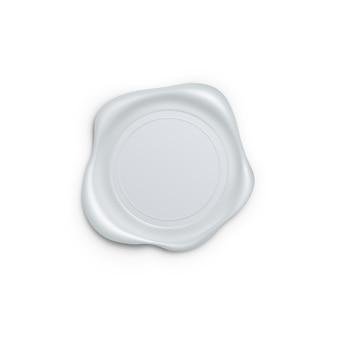 Sceau de cire isolé sur fond blanc
