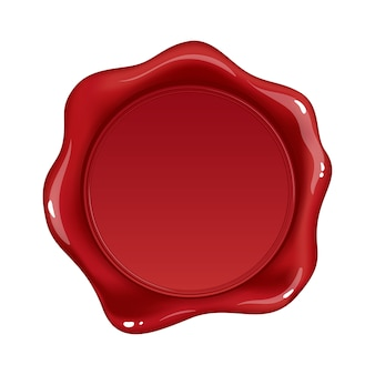 Sceau de cire rouge