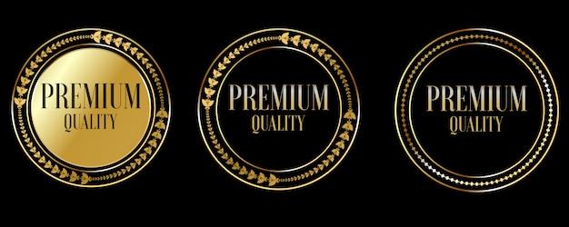 Sceller les badges et les étiquettes en or de qualité supérieure