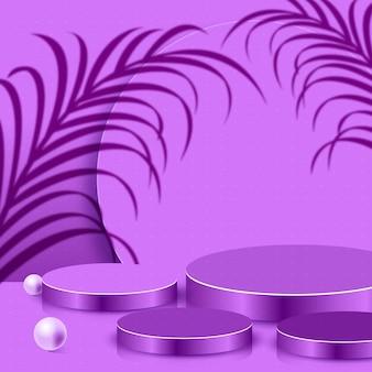Scène abstraite 3d moderne et fond de formes