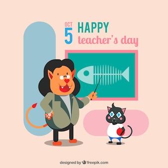 Une scène amusante pour la journée mondiale des enseignants