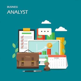Scène d'analyste d'affaires