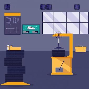 Scène d'atelier de maintenance