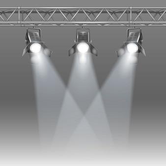 Scène avec des projecteurs
