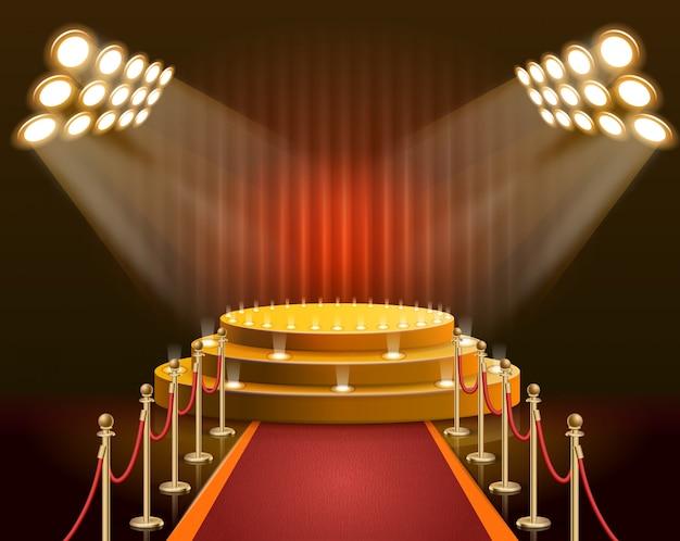 Scène de bannière pour les étoiles et les célébrités réalistes