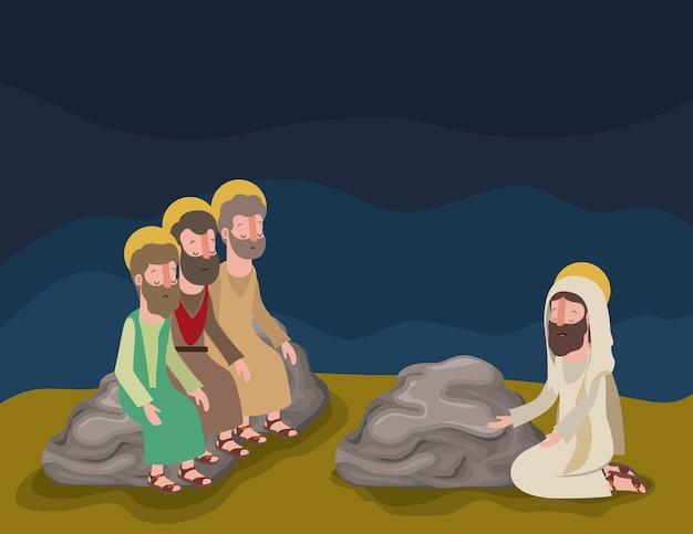 Scène biblique de la semaine sainte