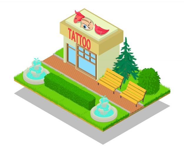 Scène de centre de tatouage