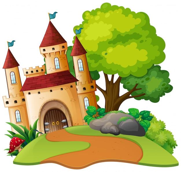 Une scène de château médiéval