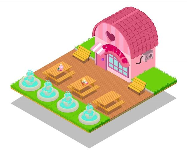 Scène concept caramel