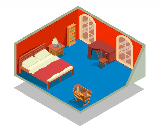 Scène de concept de chambre à coucher