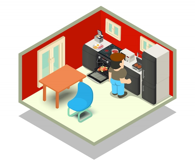 Scène de concept de cuisine