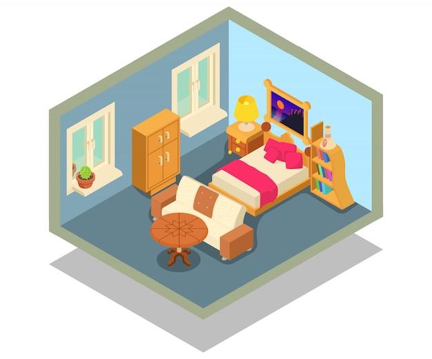Scène de concept d'hébergement