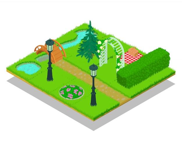 Scène de concept de jardin