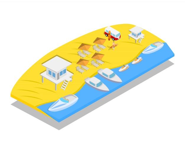 Scène de concept de plage