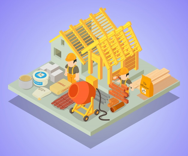 Scène de concept de réparation structurelle
