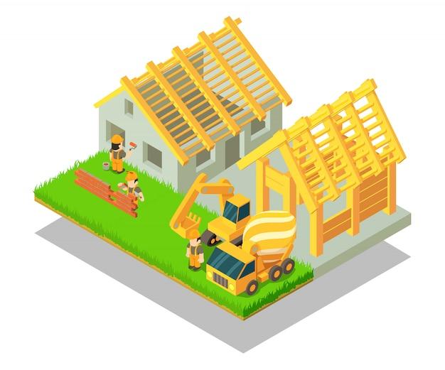 Scène de concept de village