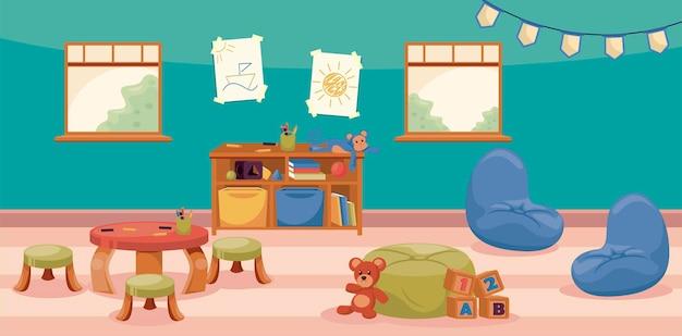 Scène de la crèche de la maternelle