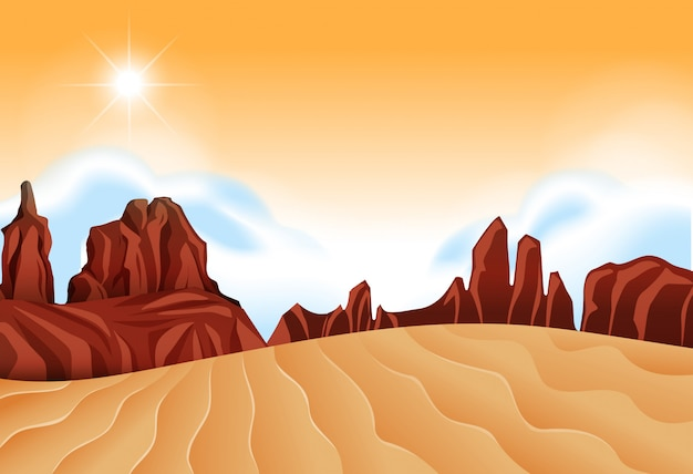 Une scène de désert isolée