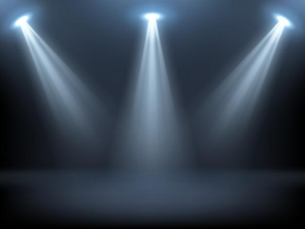 Scène éclairée par des projecteurs