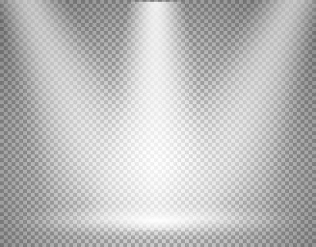 Scène éclairée avec projecteur transparent