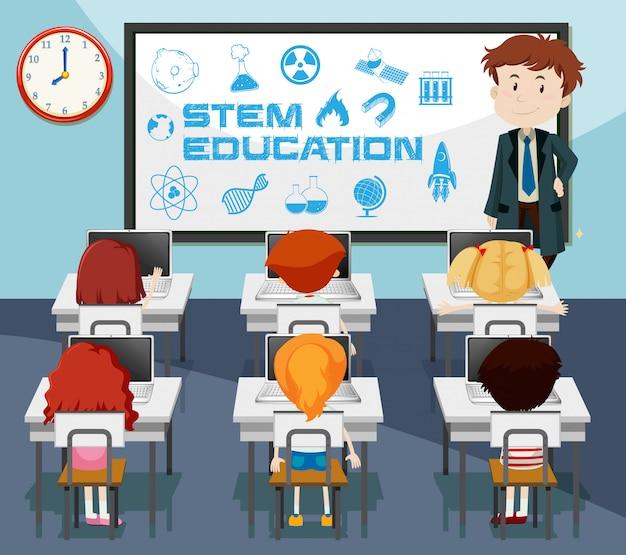 Scène d'éducation en classe