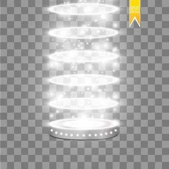 Scène effets lumineux podium rond