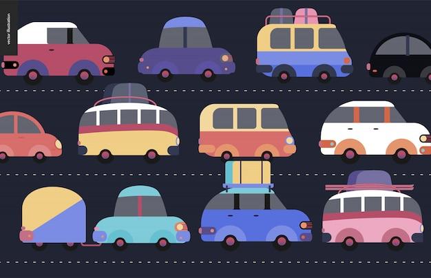 Scène d'embouteillage