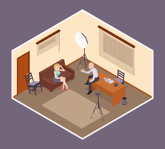 Scène de l'entrevue
