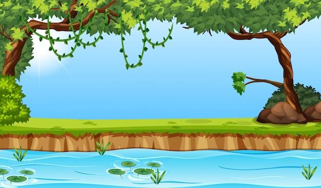 Scène envrioment de la rivière beauiful