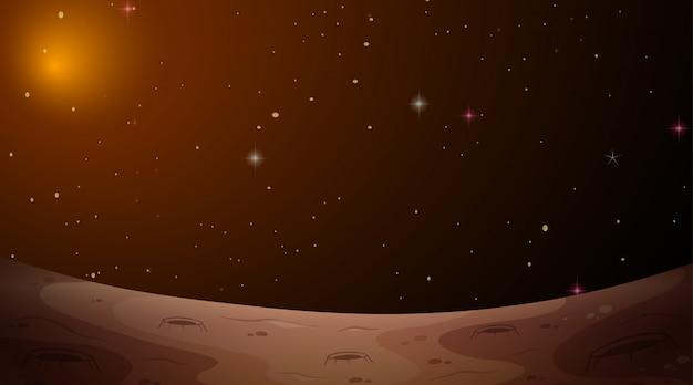 Scène de l'espace paysage mars