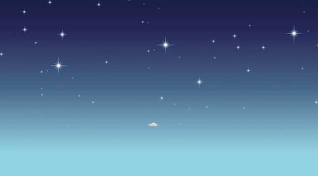 Scène d'espace vide
