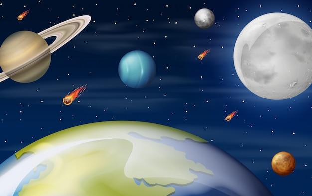 Une scène de l'espace