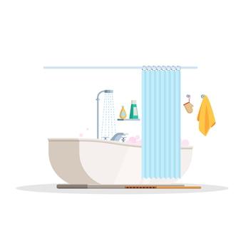 La scène est une salle de bain