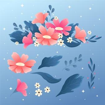 Scène florale de printemps