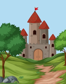 Scène de fond du grand château
