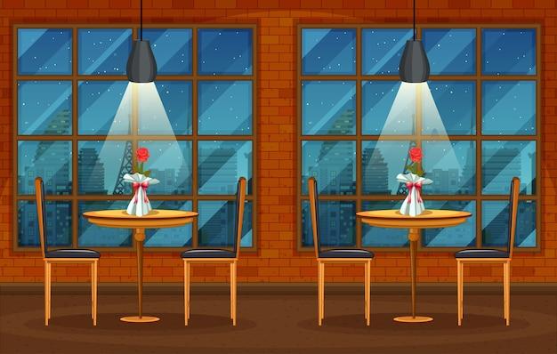 Scène de fond de pub et restaurant