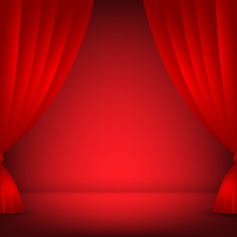 Scène, fond rouge