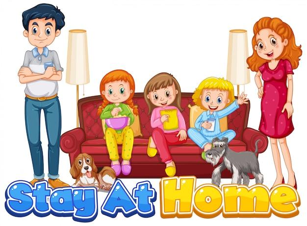 Scène avec des gens à la maison en famille