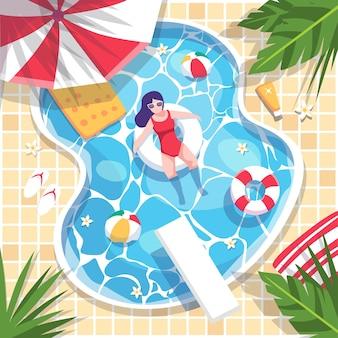 Scène de l'heure d'été