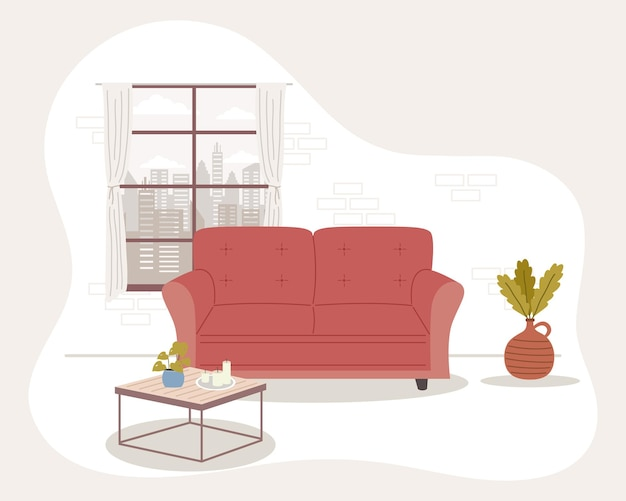 Scène de maison confortable