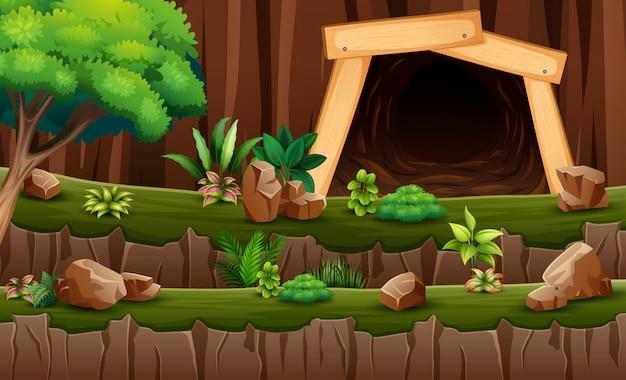 Une scène minière et souterraine